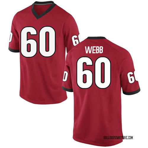 Men's Nike Clay Webb Georgia Bulldogs Replica Red Football College Jersey