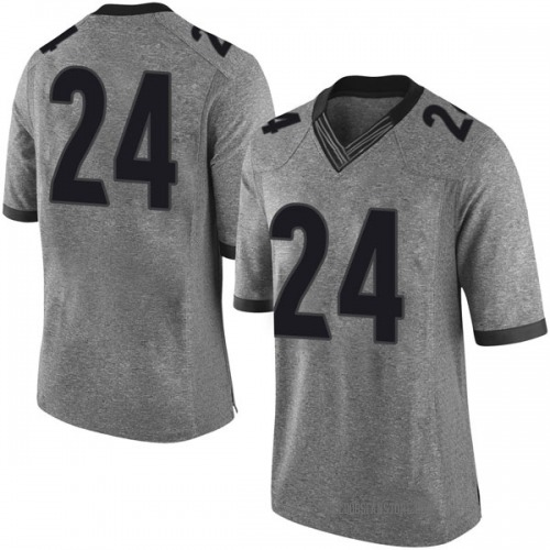 Men's Nike Connor Oneill Georgia Bulldogs Limited Gray Football College Jersey