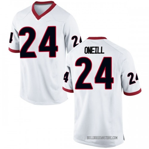 Men's Nike Connor Oneill Georgia Bulldogs Replica White Football College Jersey