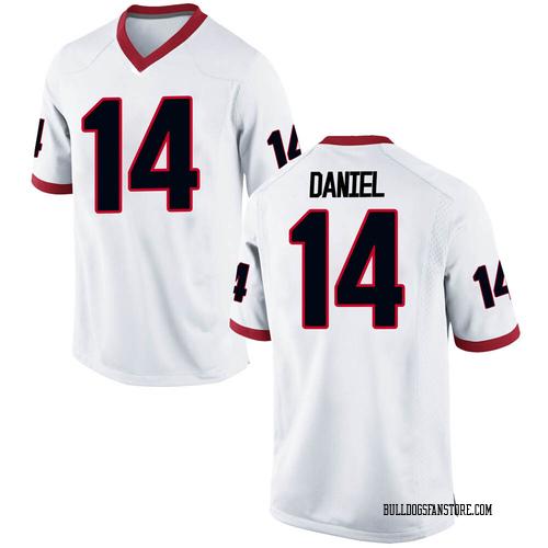 Men's Nike DJ Daniel Georgia Bulldogs Game White Football College Jersey