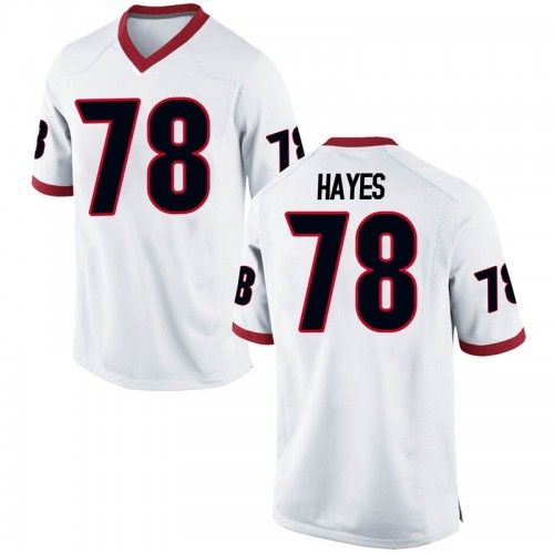 Men's Nike D'Marcus Hayes Georgia Bulldogs Game White Football College Jersey
