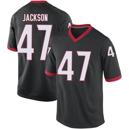 Men's Dan Jackson Georgia Bulldogs Replica Black Football College Jersey