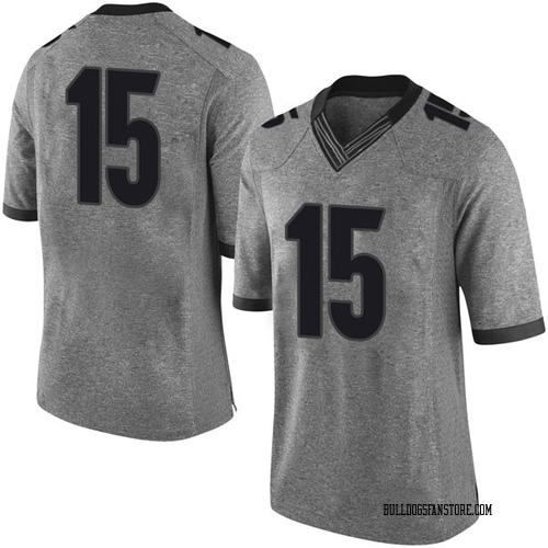 Men's Nike Dandre Walker Georgia Bulldogs Limited Gray Football College Jersey