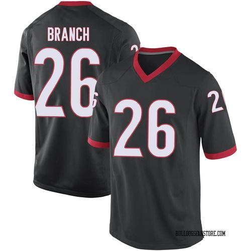 Men's Nike Daran Branch Georgia Bulldogs Replica Black Football College Jersey