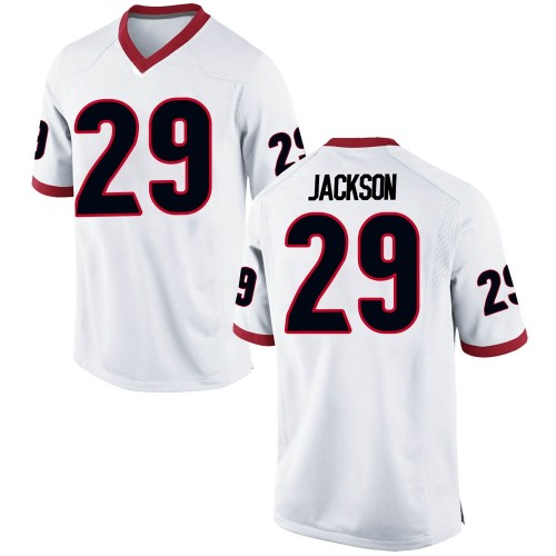 Men's Nike Darius Jackson Georgia Bulldogs Game White Football College Jersey