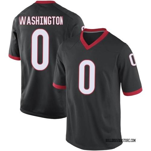 Men's Nike Darnell Washington Georgia Bulldogs Game Black Football College Jersey