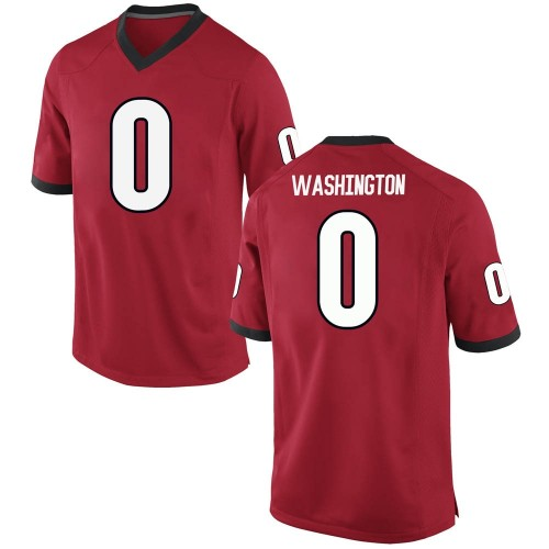 Men's Nike Darnell Washington Georgia Bulldogs Game Red Football College Jersey