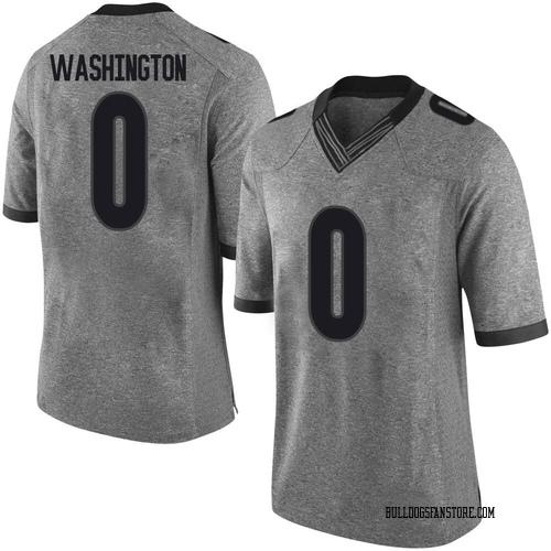 Men's Nike Darnell Washington Georgia Bulldogs Limited Gray Football College Jersey