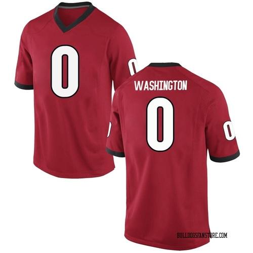 Men's Nike Darnell Washington Georgia Bulldogs Replica Red Football College Jersey