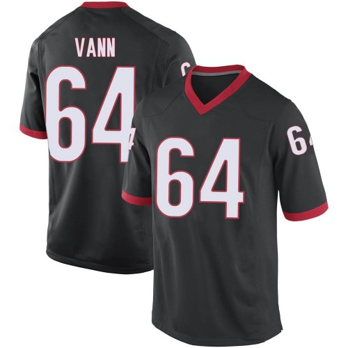 Men's Nike David Vann Georgia Bulldogs Game Black Football College Jersey