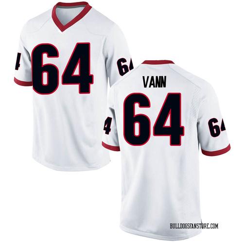 Men's Nike David Vann Georgia Bulldogs Game White Football College Jersey