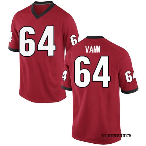Men's Nike David Vann Georgia Bulldogs Replica Red Football College Jersey