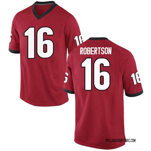 Men's Nike Demetris Robertson Georgia Bulldogs Replica Red Football College Jersey