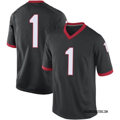 Men's Nike Divaad Wilson Georgia Bulldogs Game Black Football College Jersey
