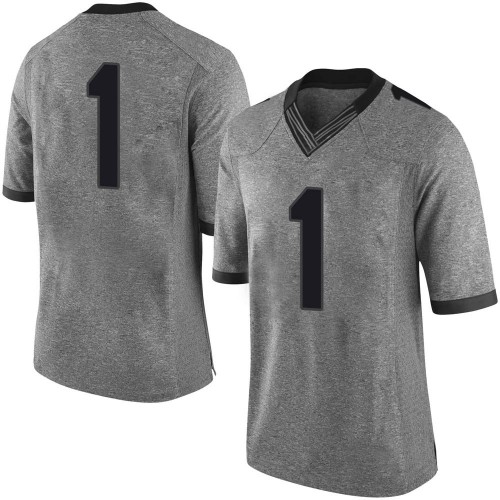 Men's Nike Divaad Wilson Georgia Bulldogs Limited Gray Football College Jersey