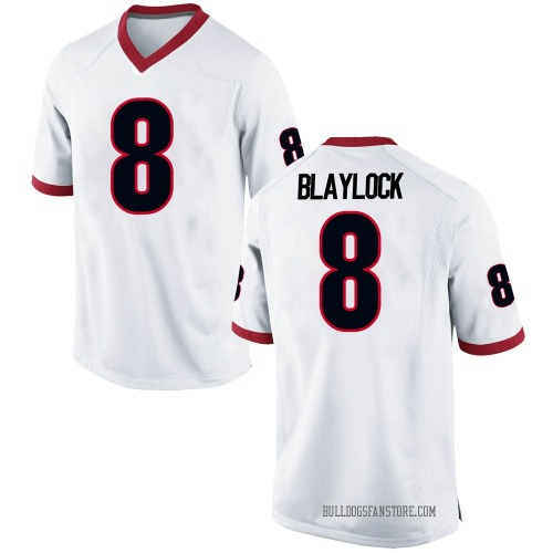 Men's Nike Dominick Blaylock Georgia Bulldogs Game White Football College Jersey