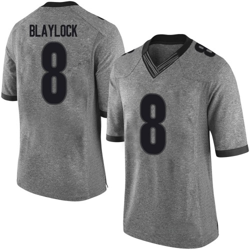 Men's Nike Dominick Blaylock Georgia Bulldogs Limited Gray Football College Jersey