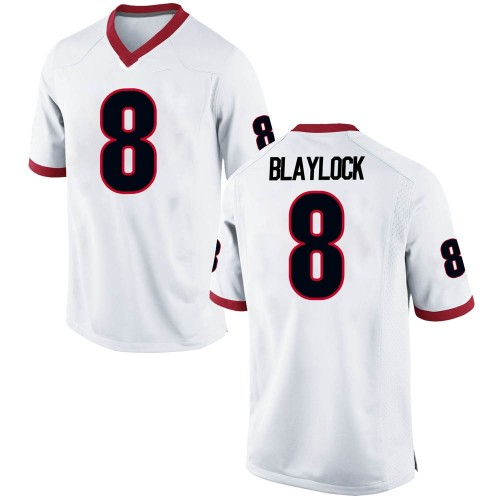 Men's Nike Dominick Blaylock Georgia Bulldogs Replica White Football College Jersey