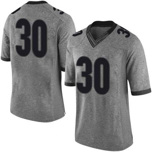 Men's Nike Ed Ferguson Georgia Bulldogs Limited Gray Football College Jersey