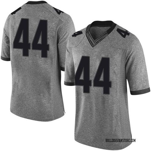 Men's Nike Evan Arnold Georgia Bulldogs Limited Gray Football College Jersey