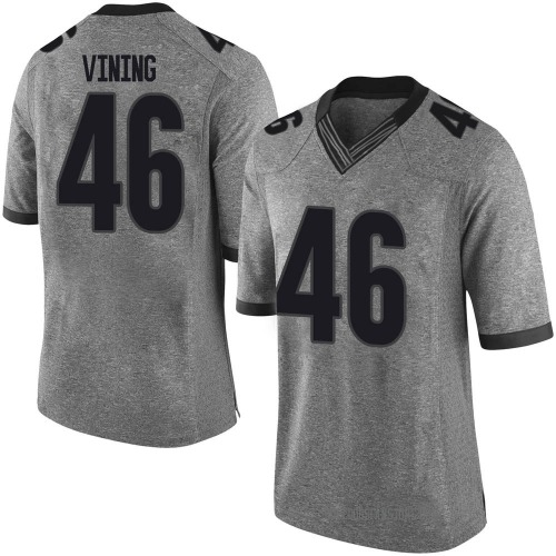 Men's Nike George Vining Georgia Bulldogs Limited Gray Football College Jersey