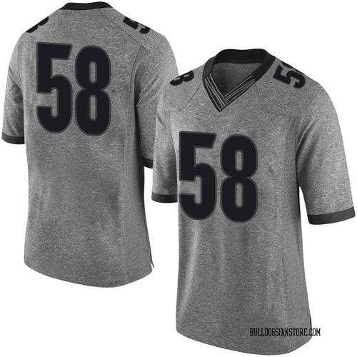 Men's Nike Hayden Rubin Georgia Bulldogs Limited Gray Football College Jersey