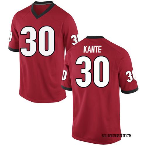 Men's Nike Isaac Kante Georgia Bulldogs Game Red Football College Jersey