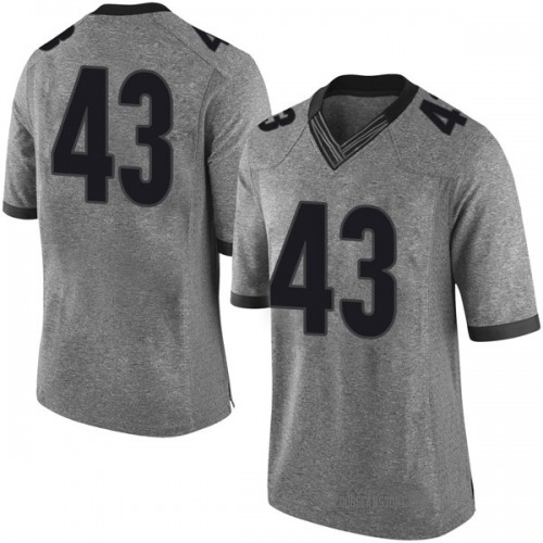 Men's Nike Isaac Mize Georgia Bulldogs Limited Gray Football College Jersey