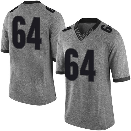 Men's Nike JC Vega Georgia Bulldogs Limited Gray Football College Jersey