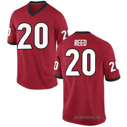 Men's Nike J.R. Reed Georgia Bulldogs Game Red Football College Jersey
