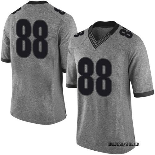 Men's Nike Jaden Hunter Georgia Bulldogs Limited Gray Football College Jersey