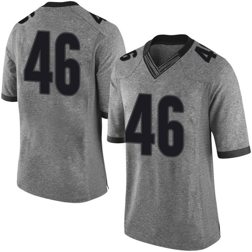 Men's Nike Jake Wilson Georgia Bulldogs Limited Gray Football College Jersey