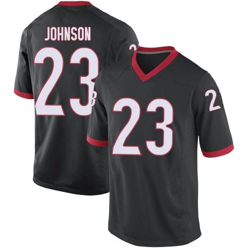 Men's Nike Jaylen Johnson Georgia Bulldogs Replica Black Football College Jersey