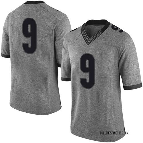 Men's Nike Jeremiah Holloman Georgia Bulldogs Limited Gray Football College Jersey