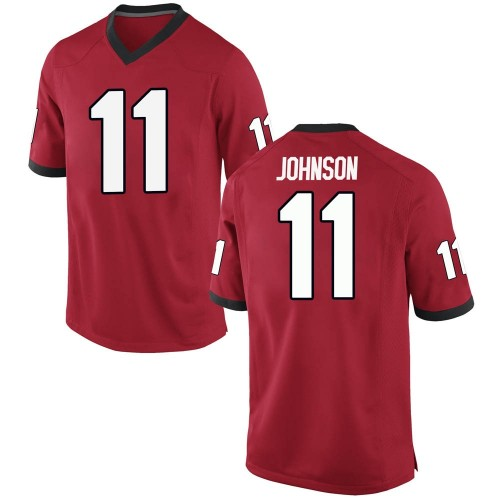 Men's Nike Jermaine Johnson Georgia Bulldogs Game Red Football College Jersey