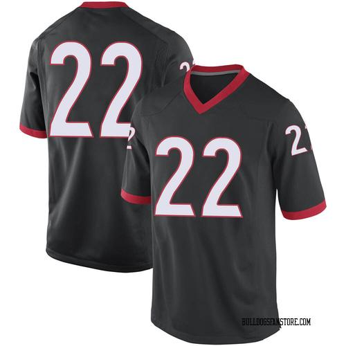 Men's Nike Jes Sutherland Georgia Bulldogs Replica Black Football College Jersey