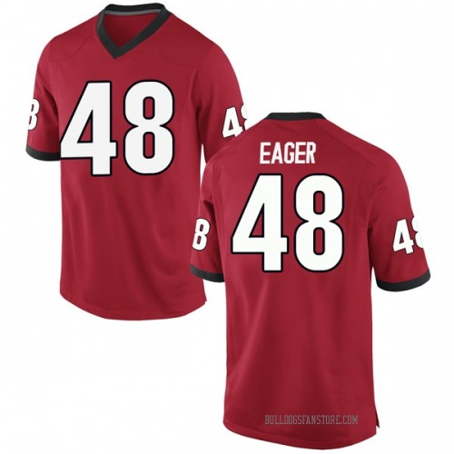 Men's Nike John Eager Georgia Bulldogs Game Red Football College Jersey