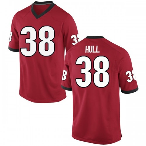 Men's Nike Joseph Hull Georgia Bulldogs Game Red Football College Jersey