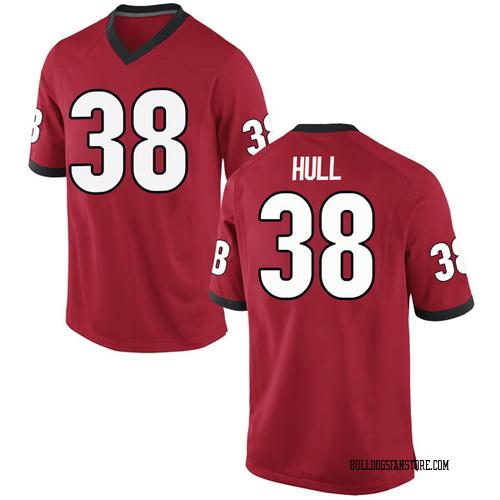 Men's Nike Joseph Hull Georgia Bulldogs Replica Red Football College Jersey