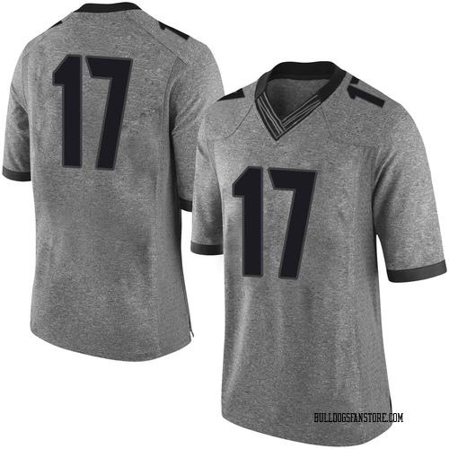 Men's Nike Justin Robinson Georgia Bulldogs Limited Gray Football College Jersey