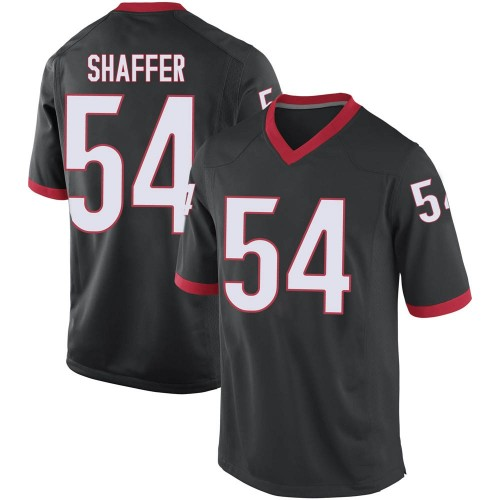 Men's Nike Justin Shaffer Georgia Bulldogs Replica Black Football College Jersey