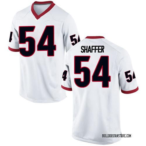 Men's Nike Justin Shaffer Georgia Bulldogs Replica White Football College Jersey