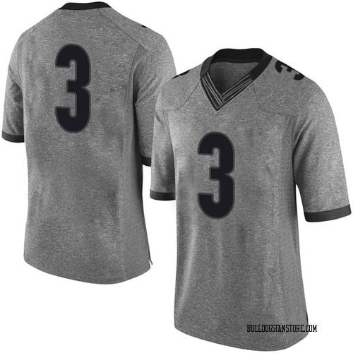 Men's Nike Juwan Parker Georgia Bulldogs Limited Gray Football College Jersey