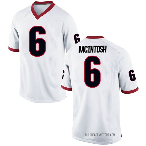 Men's Nike Kenny McIntosh Georgia Bulldogs Replica White Football College Jersey