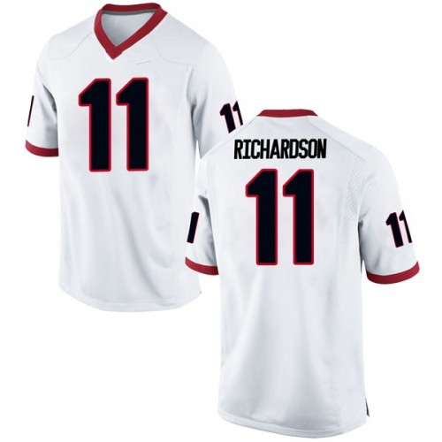 Men's Nike Keyon Richardson Georgia Bulldogs Replica White Football College Jersey