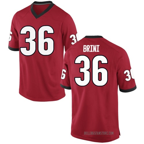 Men's Nike Latavious Brini Georgia Bulldogs Game Red Football College Jersey