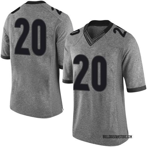 Men's Nike Major Burns Georgia Bulldogs Limited Gray Football College Jersey