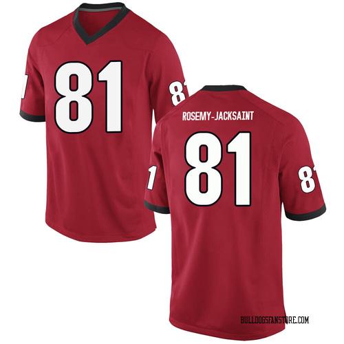 Men's Nike Marcus Rosemy-Jacksaint Georgia Bulldogs Replica Red Football College Jersey