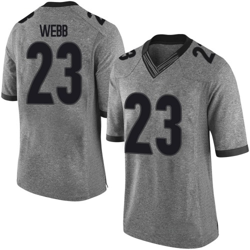 Men's Nike Mark Webb Georgia Bulldogs Limited Gray Football College Jersey