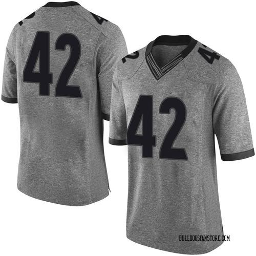 Men's Nike Matthew Brown Georgia Bulldogs Limited Brown Gray Football College Jersey